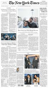 new york times front