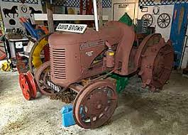 brown tractor