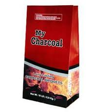 bags of charcoal