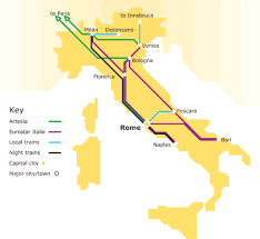 italian trains map