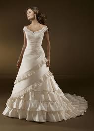 off the shoulder bridal gown