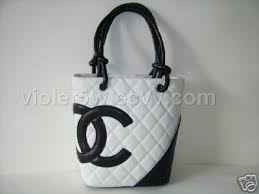 chanel black and white bags