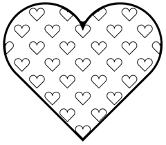 coloring pages of hearts
