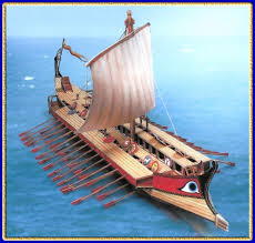ancient greek warships