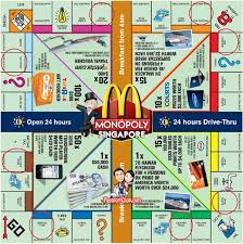 monopoly mcdonalds game board