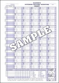 baseball pitching charts