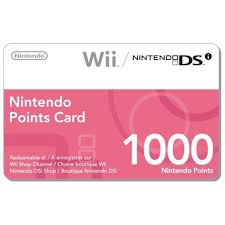 1000 wii points card