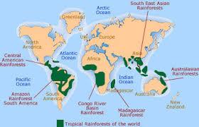 map of congo rainforest