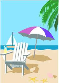 beach umbrella clipart