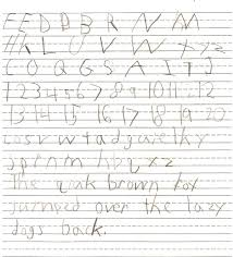 kids handwriting