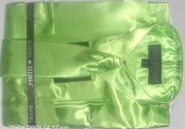 green satin shirt