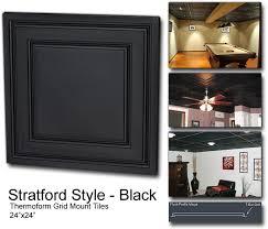 black ceiling panel