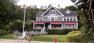 grey houses