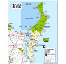 map of fraser island
