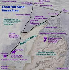 pink coral sand dunes
