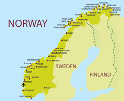 map of norway cities