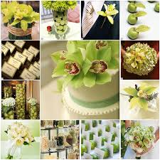 green flowers for wedding