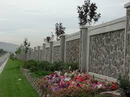 concrete fence designs