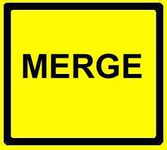 merge road sign