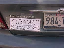 obama funny bumper stickers