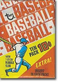 baseball card pack