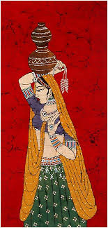 indian lady paintings