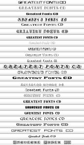 cd font