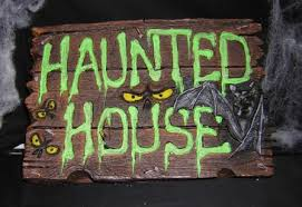 haunted house signs