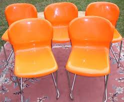 orange plastic chairs