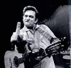 johnny cash giving the finger