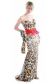 leopard print formal dress