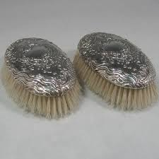 antique hair brushes