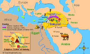 map babylonia