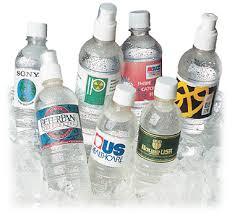 bottled water labels