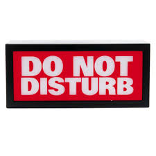 do not disturb picture