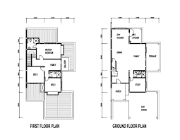 double storey floor plans