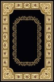 black oriental rug