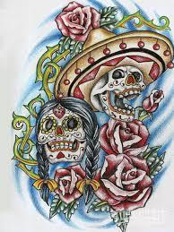 day of the dead skeleton art