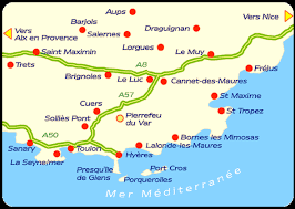 france provence map