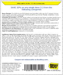 best buy coupon 2009