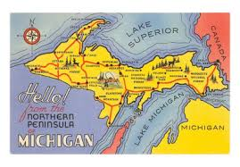 map of upper peninsula michigan