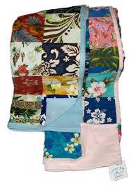 blue patchwork quilt