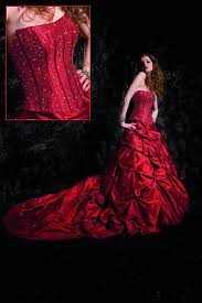 red wedding dress pictures