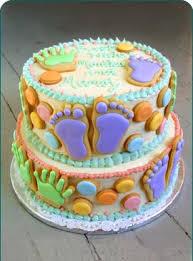 baby footprint cake