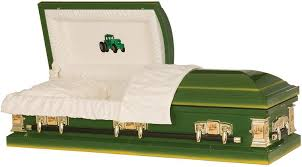green caskets