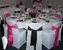 pink and black wedding theme