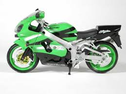 green motorcycle