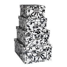 black and white storage box