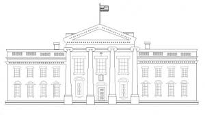 coloring pages white house