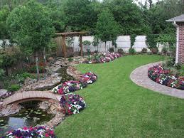 large yard landscaping